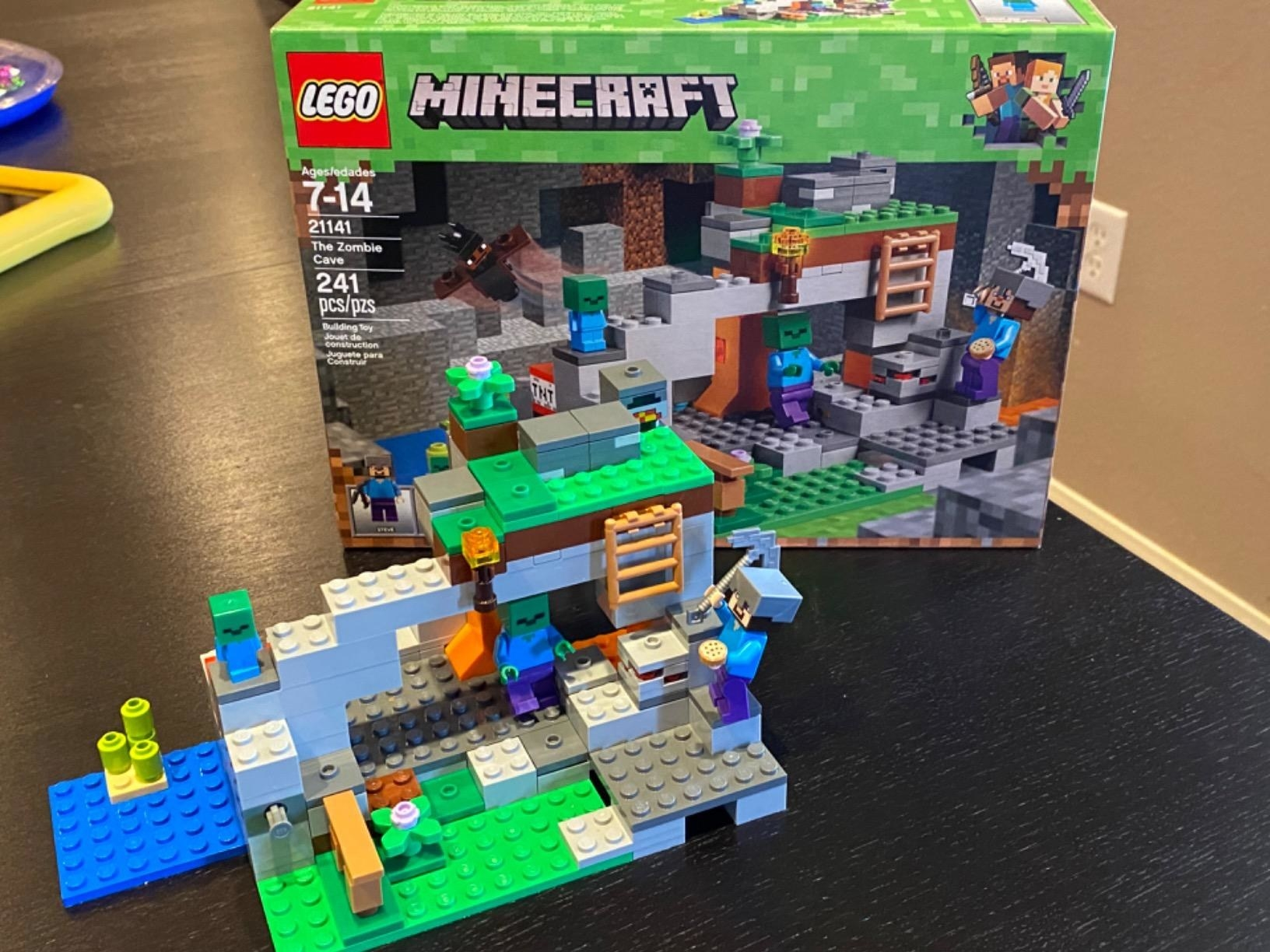reviewer's lego set being built