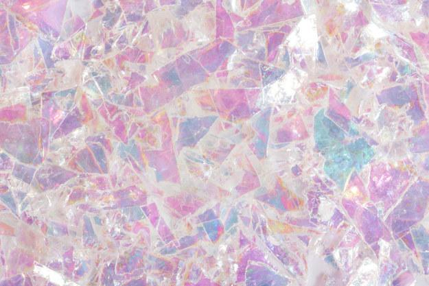 彩色的玻璃碎片