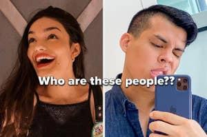 两个著名的社交媒体明星 - 一个歌手和一个的beatboxer  - 一项挑战,要求他们识别