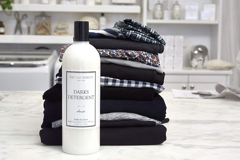 the white detergent bottle