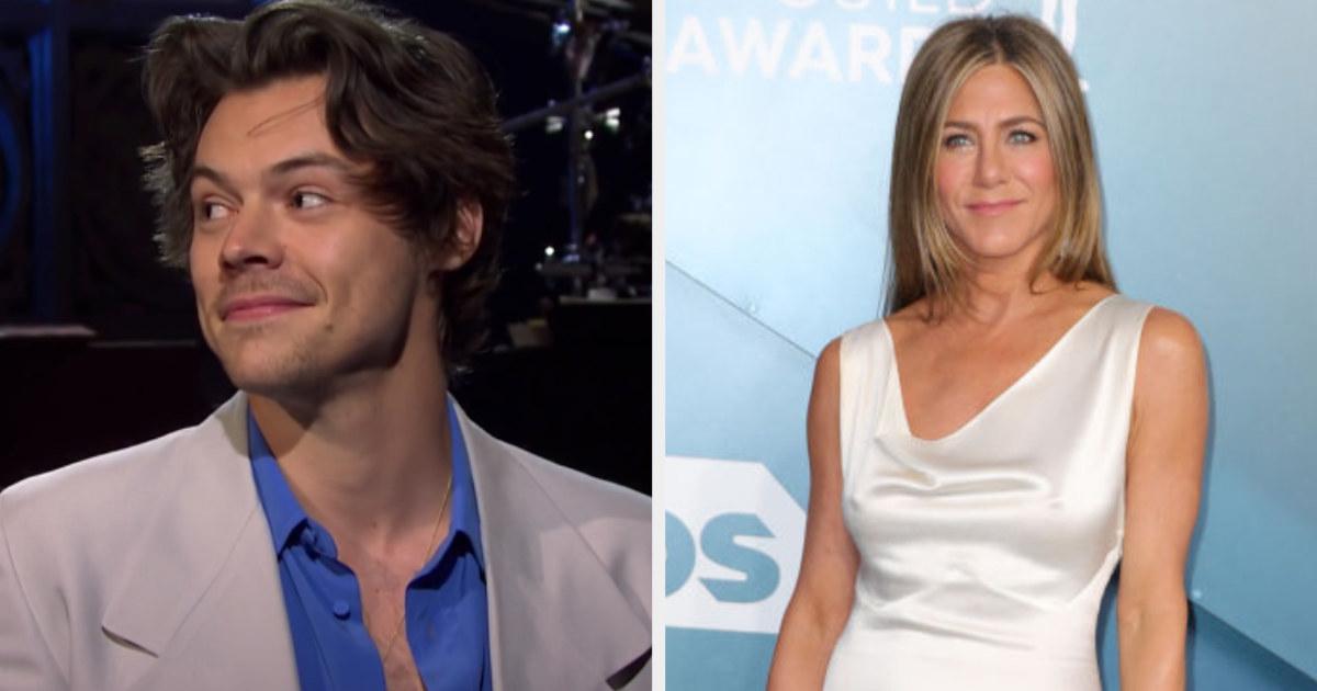 "Harry Styles hosting ""SNL;"" Jennifer Aniston at the 2020 SAG Awards"