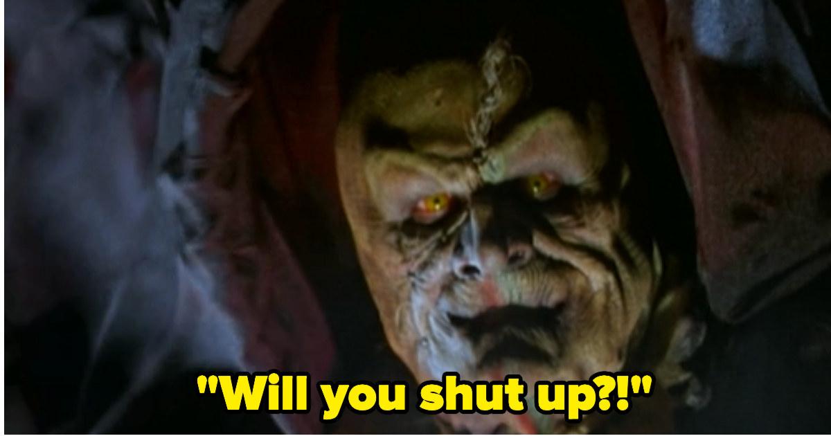 "Monster-Kalabar saying, ""Will you shut up?"""