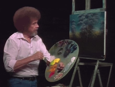 Bob Ross painting.