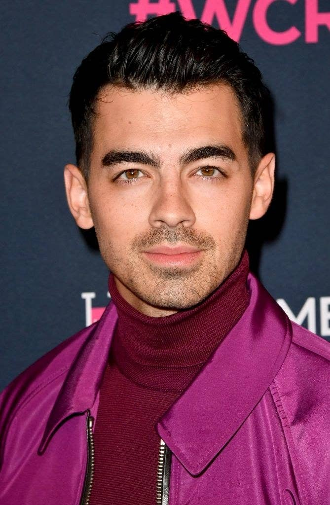 Joe Jonas at an event for The Women's Cancer Research Fund