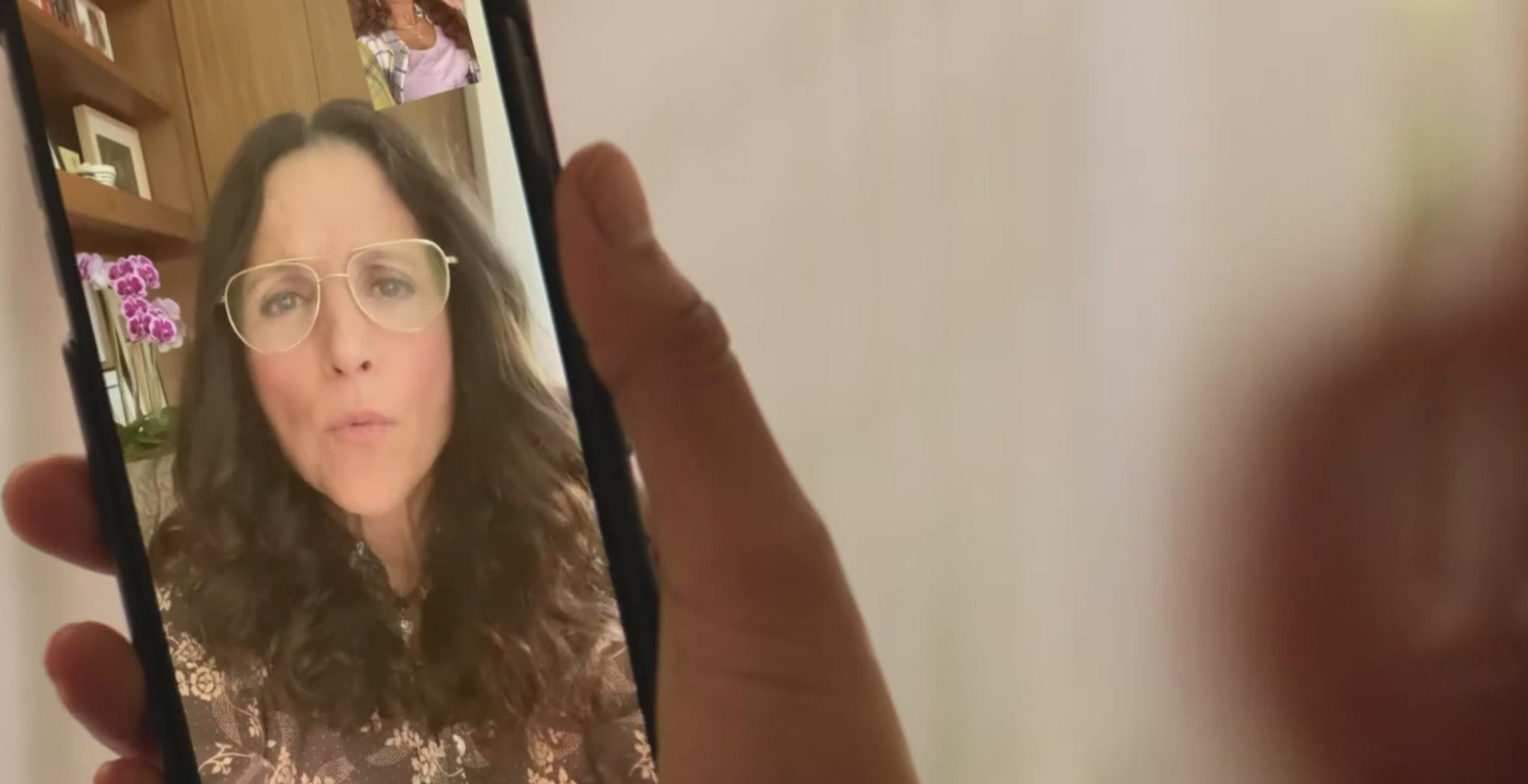 Keke on FaceTime with Julia