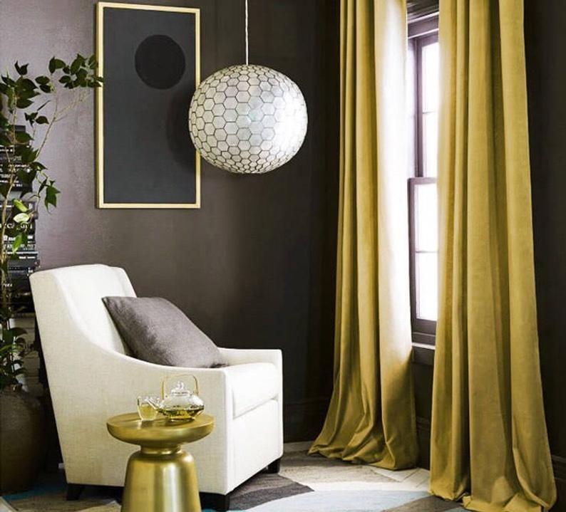 A set of velvet curtains