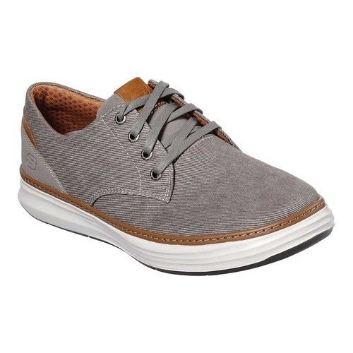 one taupe oxford sneaker with brown lining