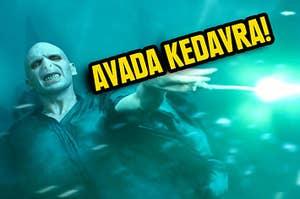 Voldemort casting the killing curse