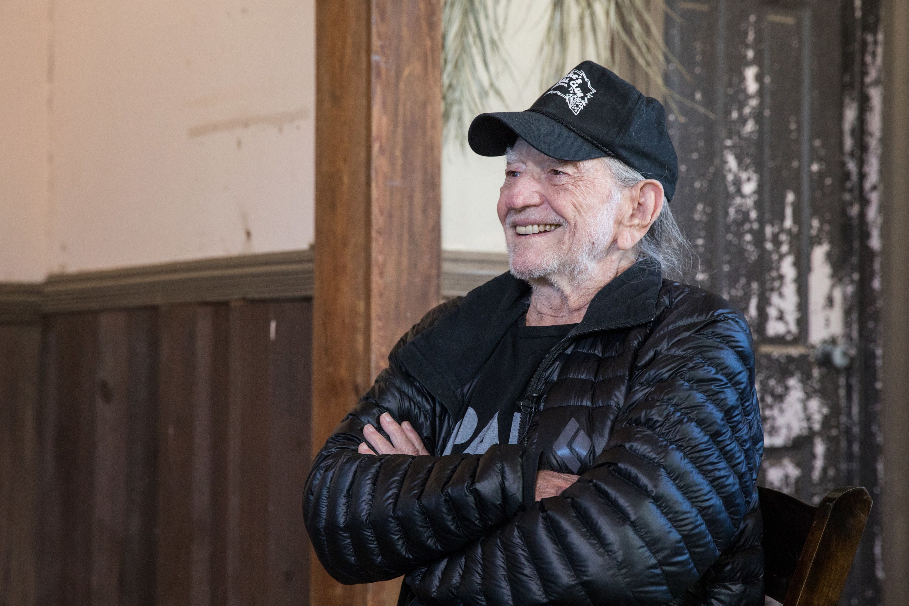 Willie Nelson smiling