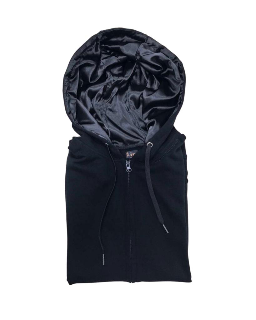 The black hoodie