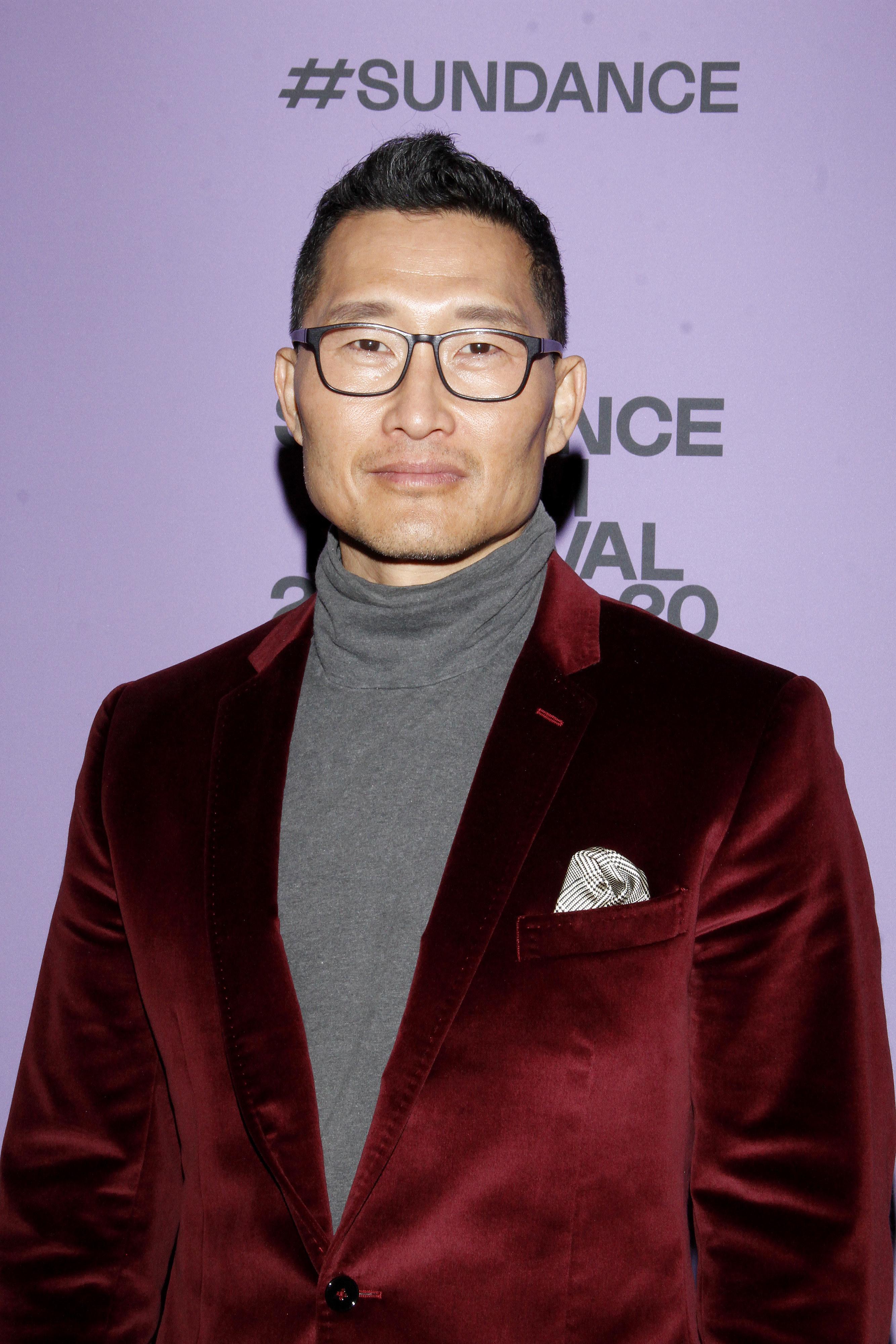 Daniel at the 2020 Sundance Film Festival premiere of 'Blast Beat'