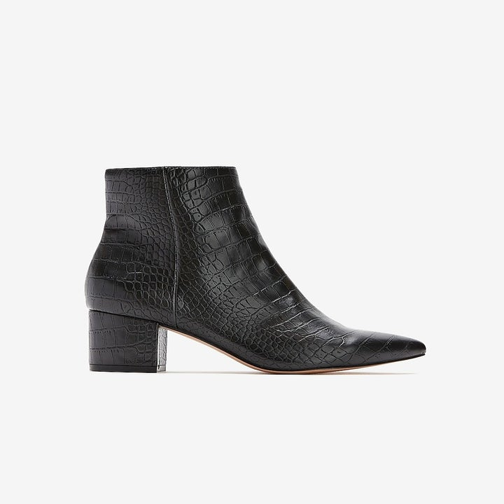 The low block heel booties