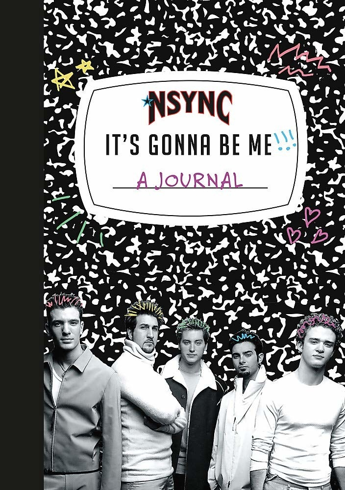 the marble notebook with NSYNC design