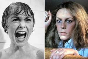 Janet Leigh in Psycho and Jamie Lee Curtis in Halloween