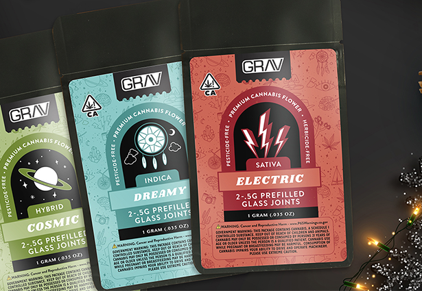 Assorted Grav product packages