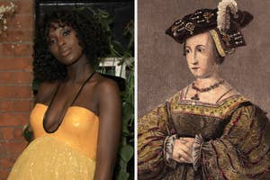 Jodie Turner Smith and Anne Boleyn