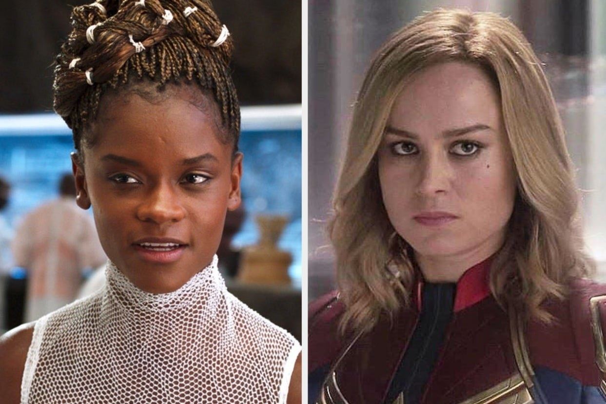 """Shuri from """"Black Panther"""" and Carol Danvers from """"Captain Marvel"""""""