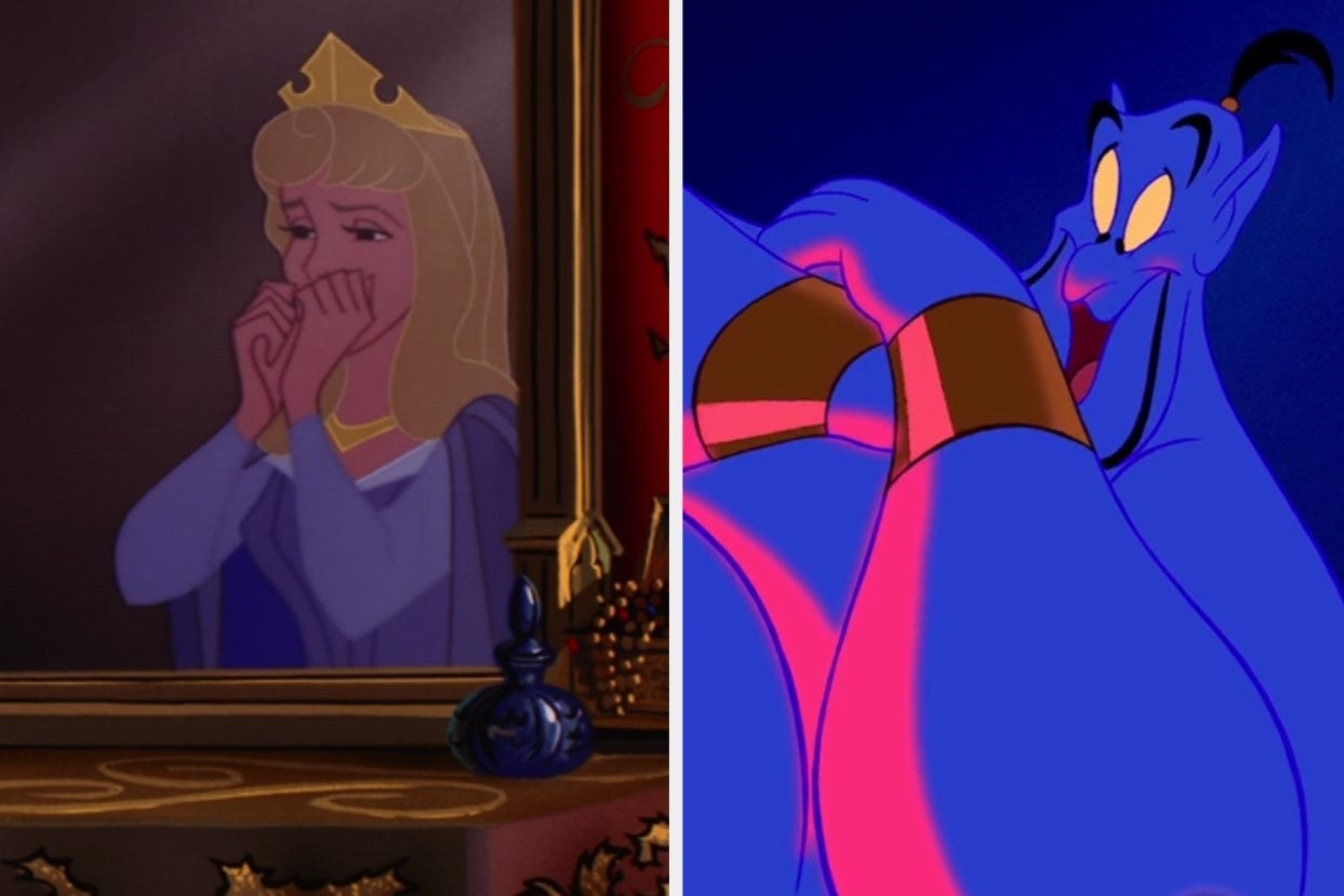 """Aurora from """"Sleeping Beauty"""" and The Genie from """"Aladdin"""""""