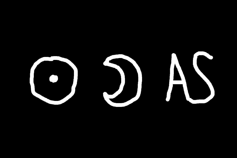 A set of astrological symbols