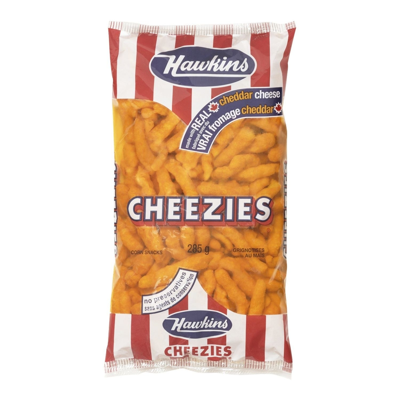 A bag of Hawkins Cheezies