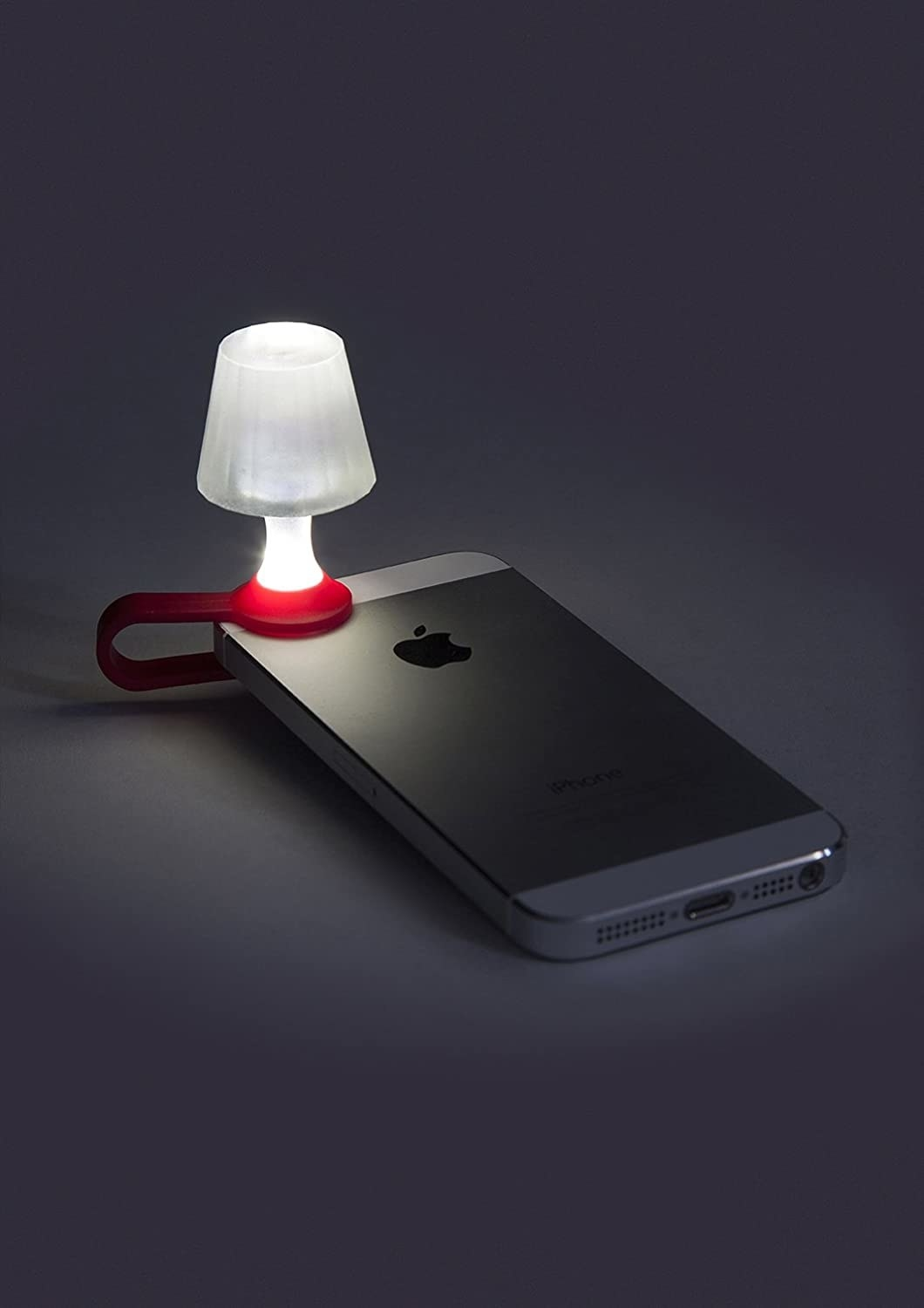 white lamp on the flashlight of a phone