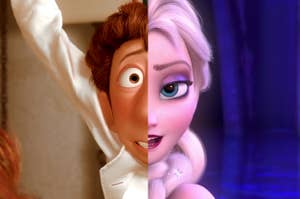 Linguine from Ratatouille and Elsa from Frozen