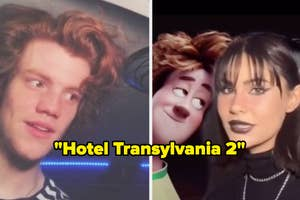 Johnny and Mavis from Hotel Transylvania lookalikes