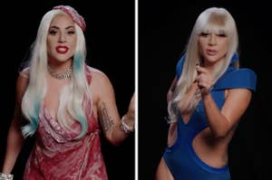 "Lady Gaga身着《Poker Face》中的""肉""装和套装向潜在选民发表演讲"