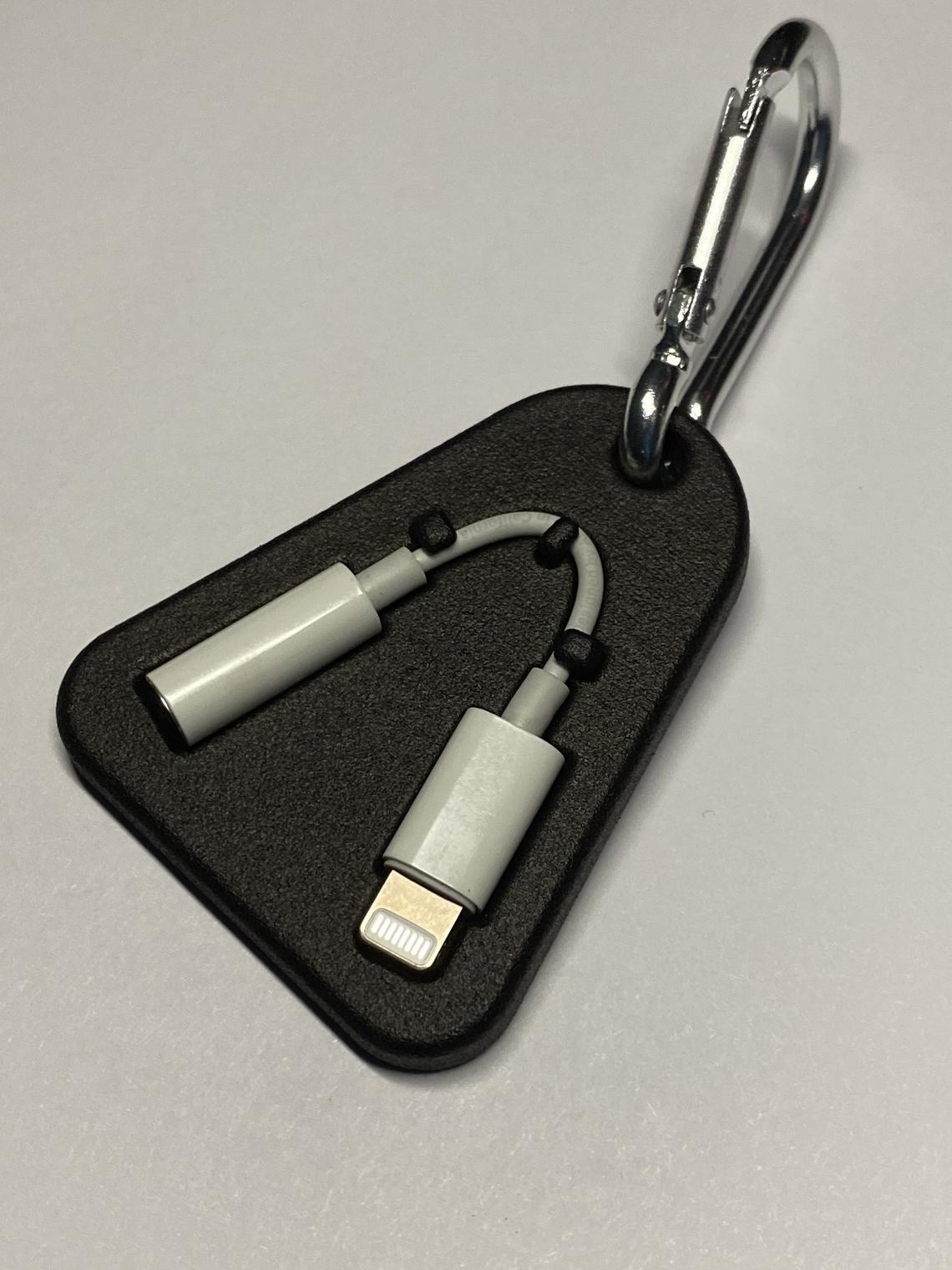 keychain with phone adapter