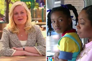 On the left, Parks and Rec, and on the right, Everybody Hates Chris
