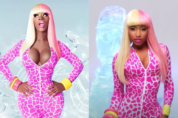 "Lil Nas X as Nicki Minaj in the ""Superbass"" vide"