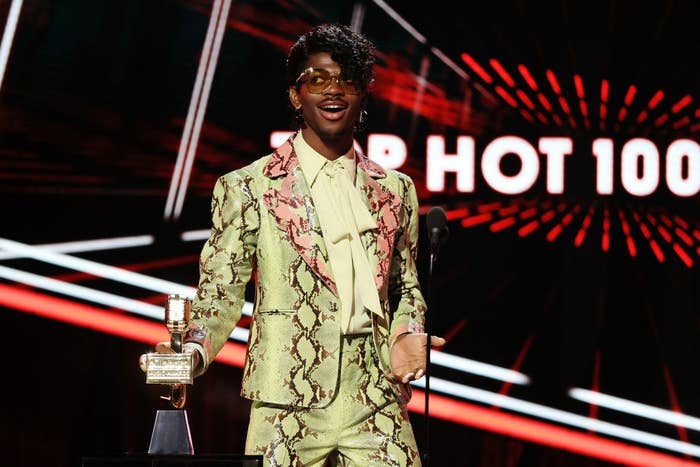 Lil Nas at the 2020 Billboard Music Awards,