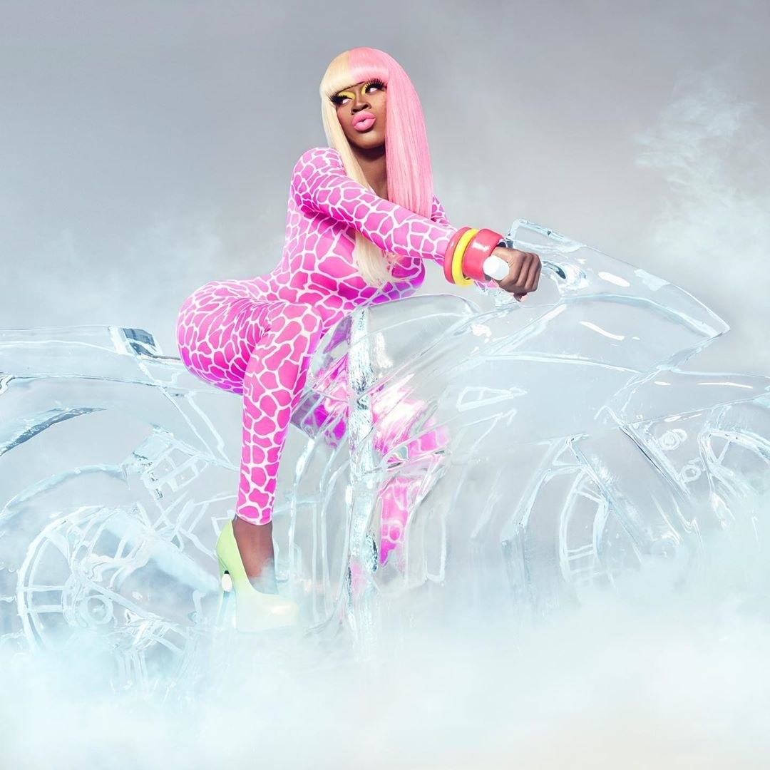 "Lil Nas X as Nicki Minaj in the ""Super Bass"" video"