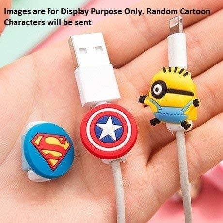 Superman, Captain America and minion themed cable protectors.