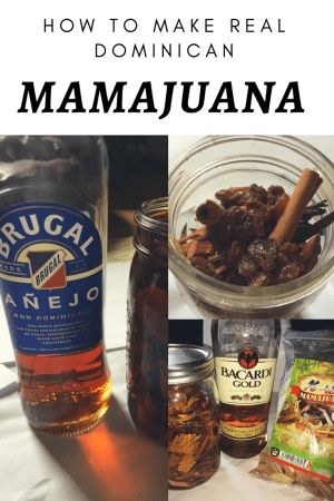 The ingredients to make mamajuana, including rum, honey, and red wine.