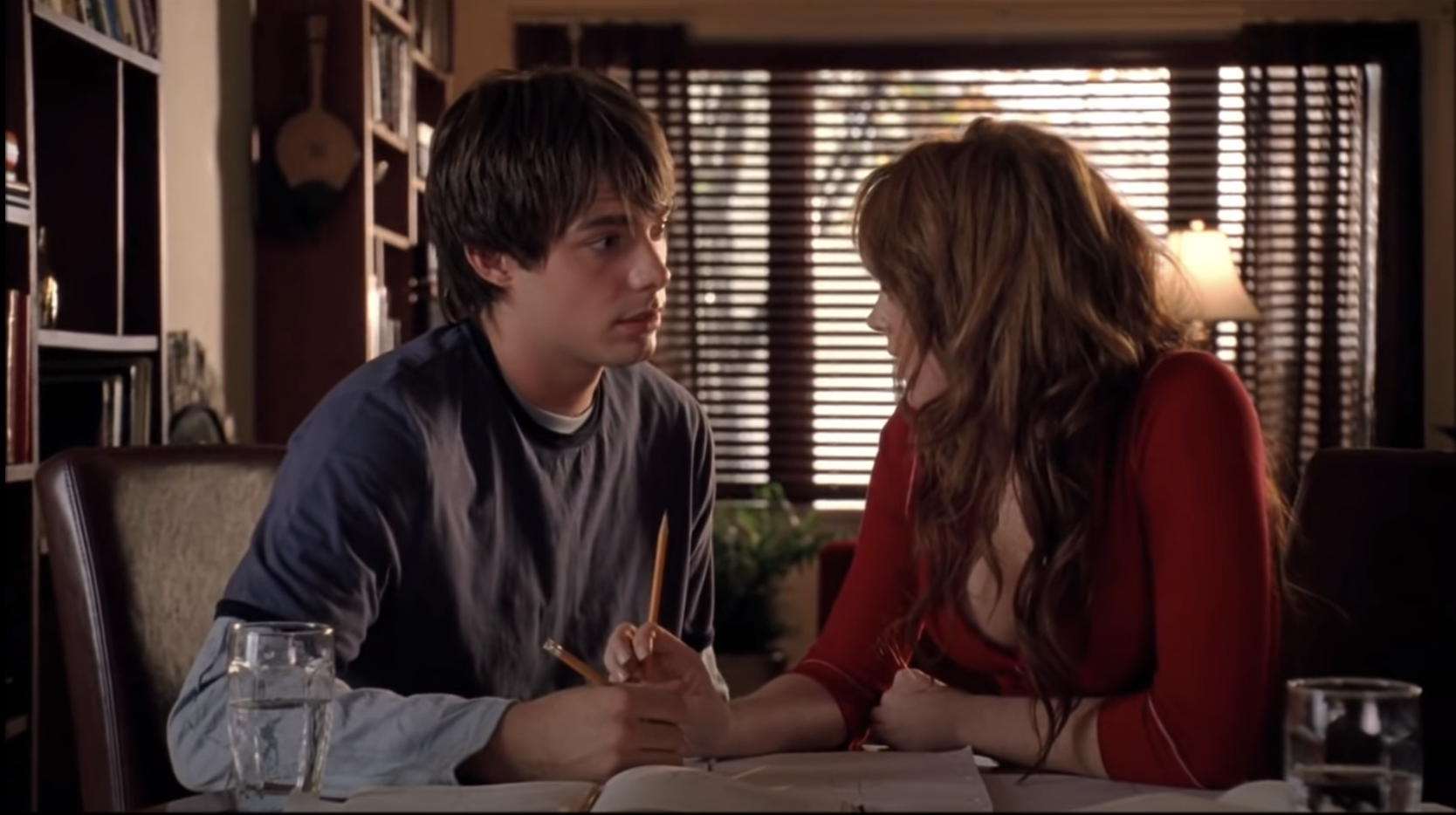 Aaron and Cady in Mean Girls