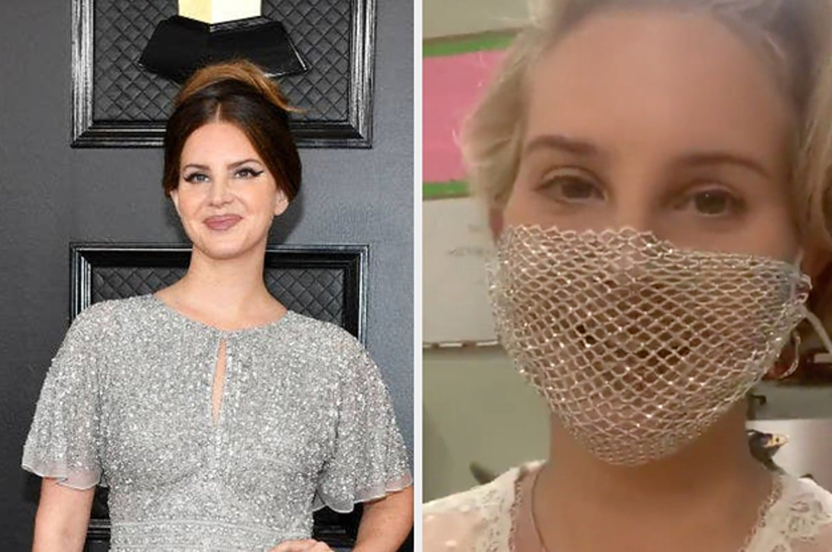 Lana Del Rey Criticized For Mesh Face Mask At Book Signing