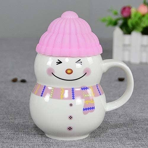 A snowman mug