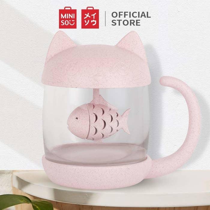 A cat infuser tea mug
