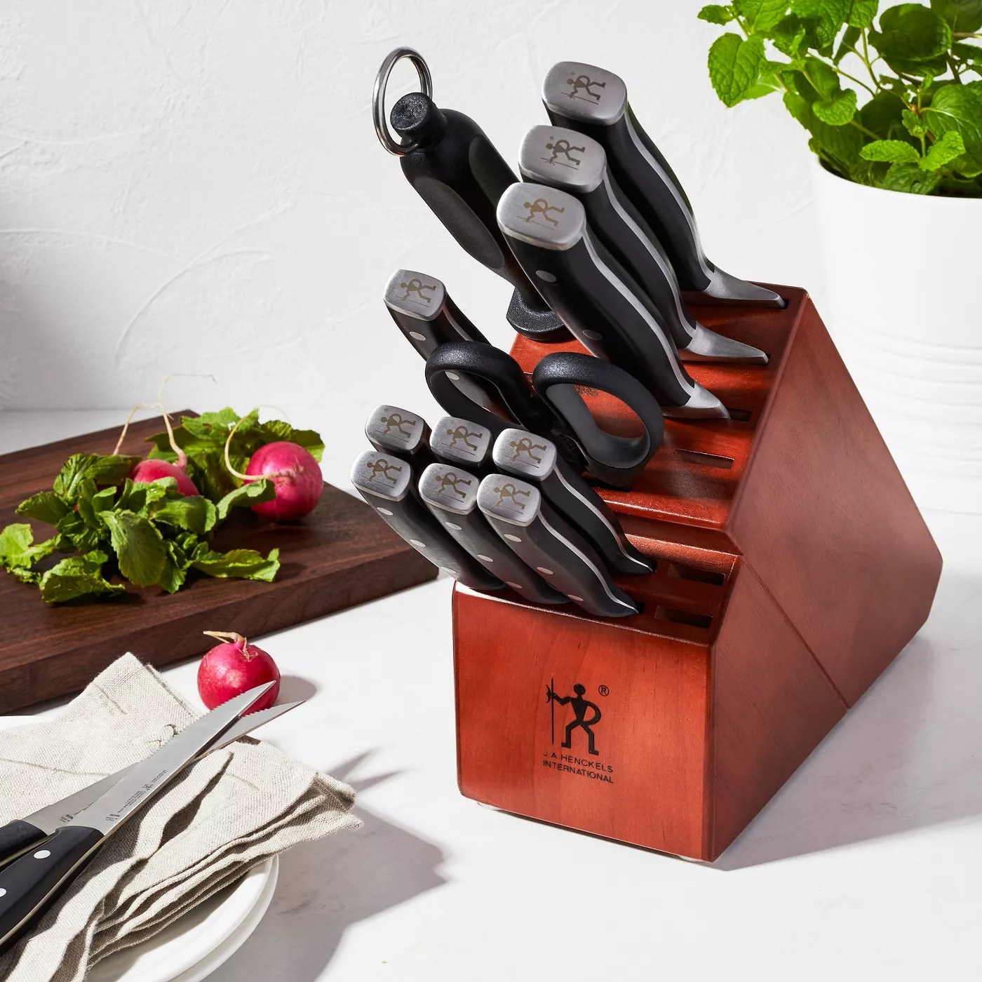 The knife block set