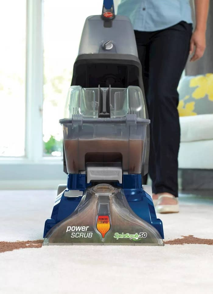 The carpet cleaner with SpinScrub50 technology and forced heat