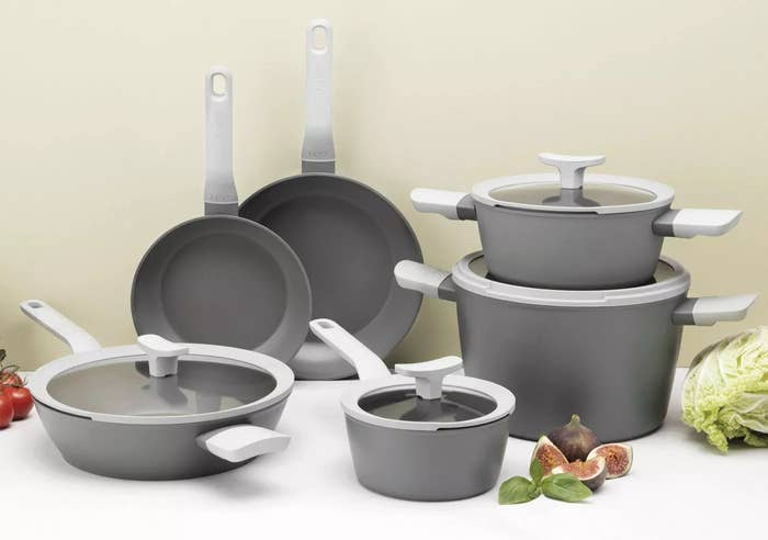 The gray cookware