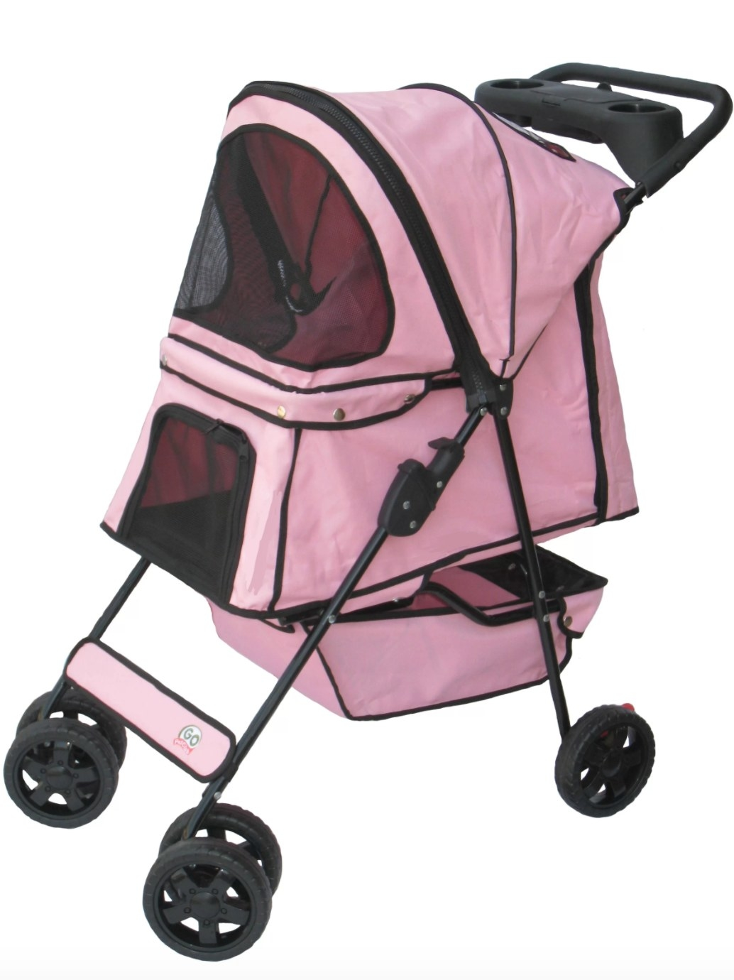 The pet stroller in pink