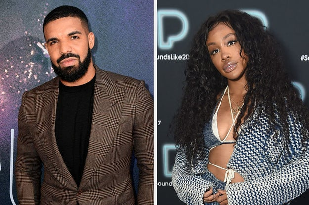 Drake and SZA on the red carpet