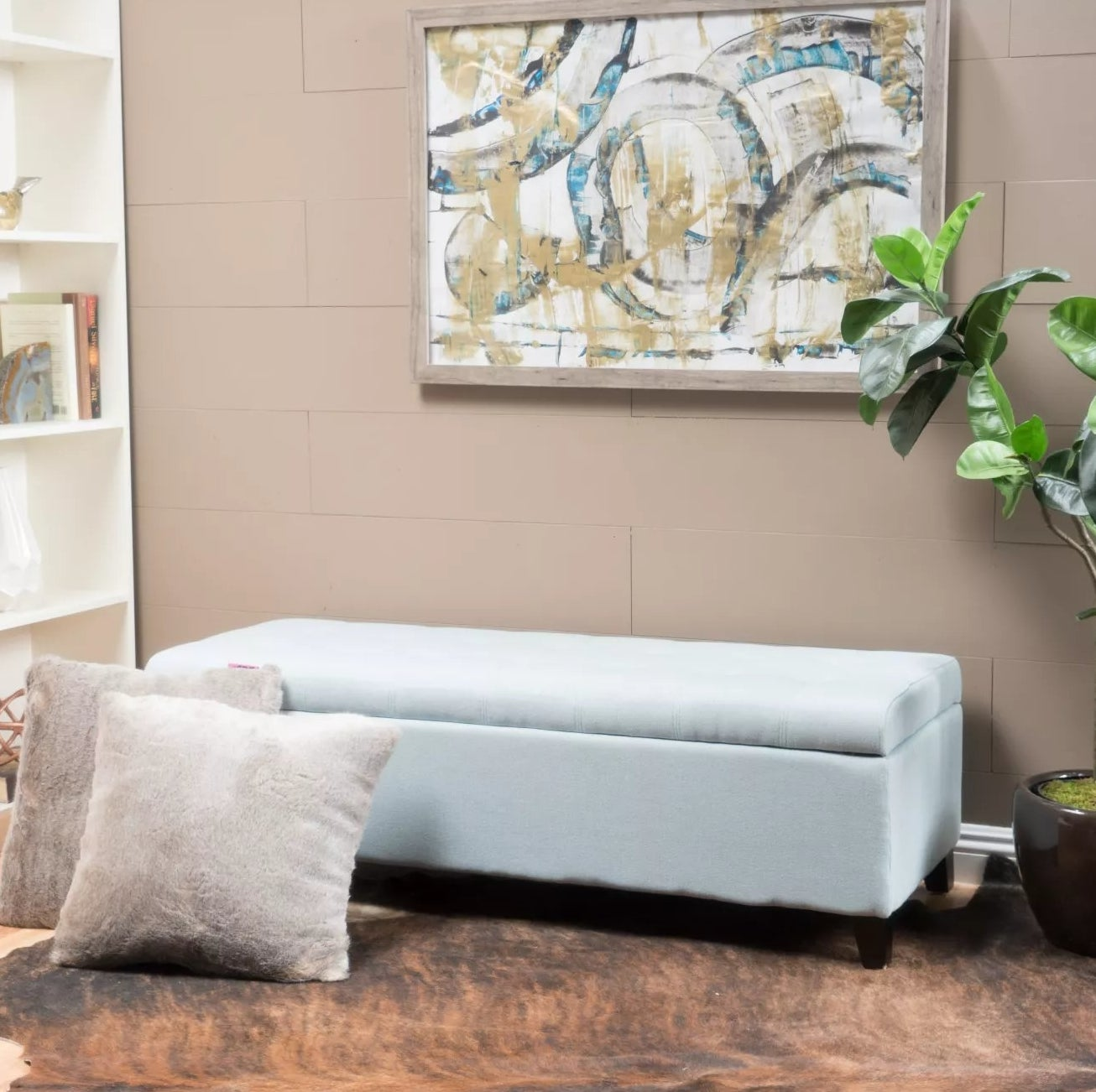 The ottoman in sky blue