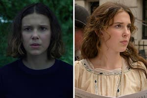 Millie Bobby Brown as Eleven and Enola Holmes