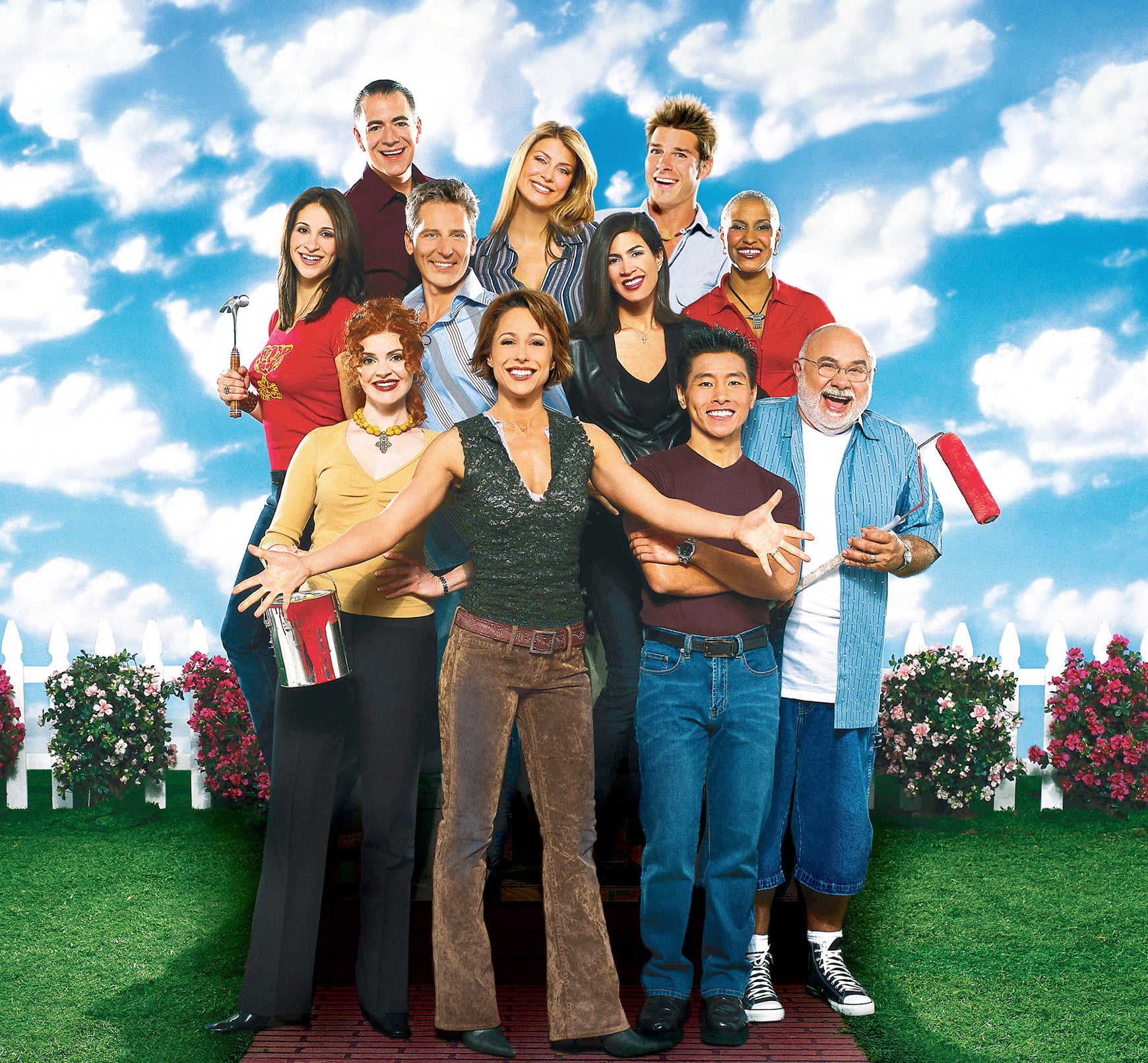 A promo photo of the cast of Trading Spaces