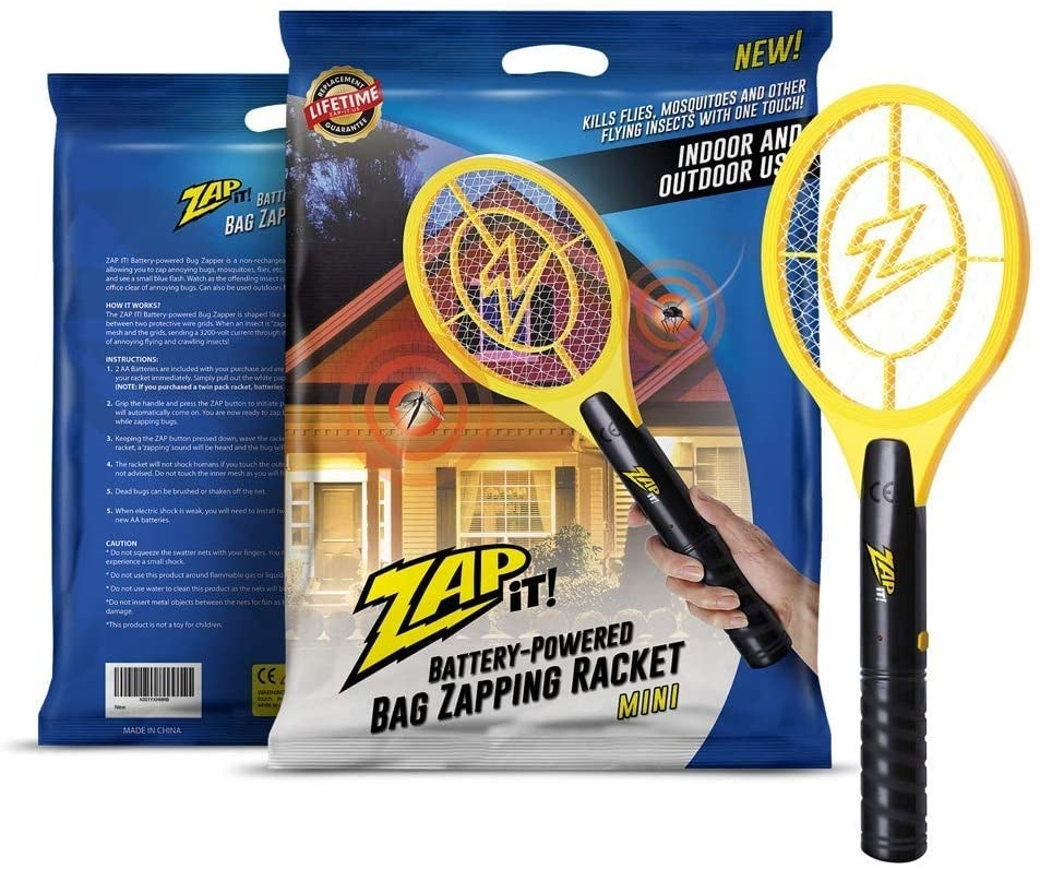 The zapper next to its packaging