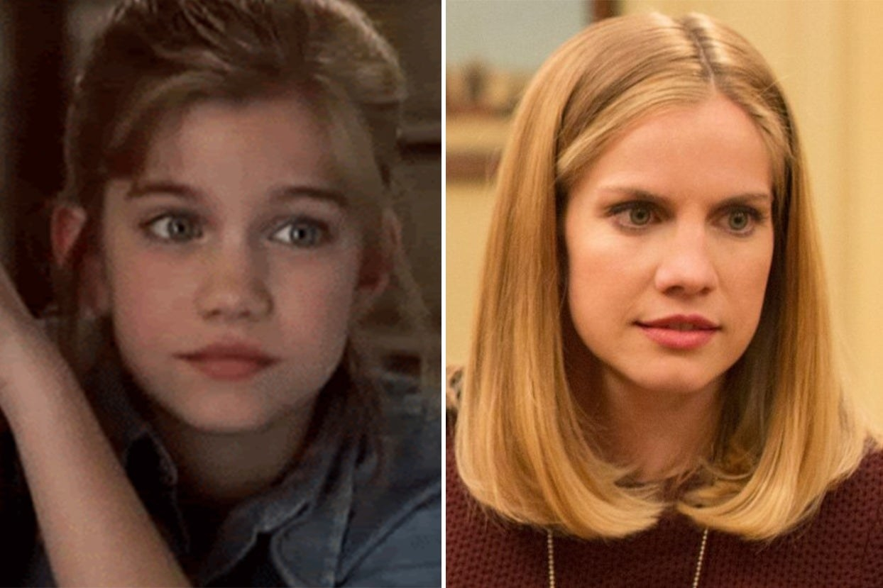 Anna Chlumsky in My Girl and Anna Chlumsky in Veep