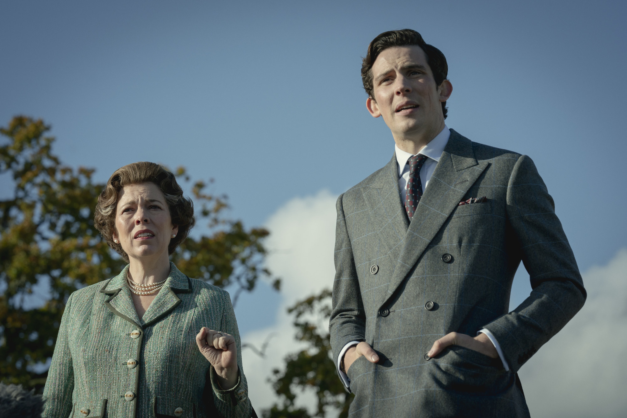 Queen Elizabeth II (OLIVIA COLMAN) and Prince Charles (JOSH O CONNOR)